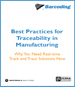 This white paper discusses how traceability technologies and processes ensure product quality standards are met and give real-time information about production and equipment.  Provided by Barcoding Inc., Motorola Solutions and Zebra Technologies.