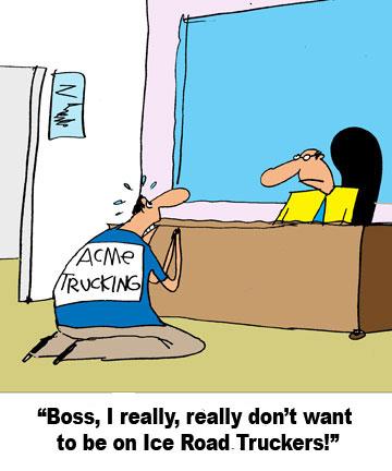 Supply Chain Cartoon Caption Winner for Feb  1, 2010 Contest